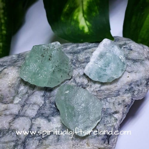Green Fluorite Raw Unpolished Crystal 3