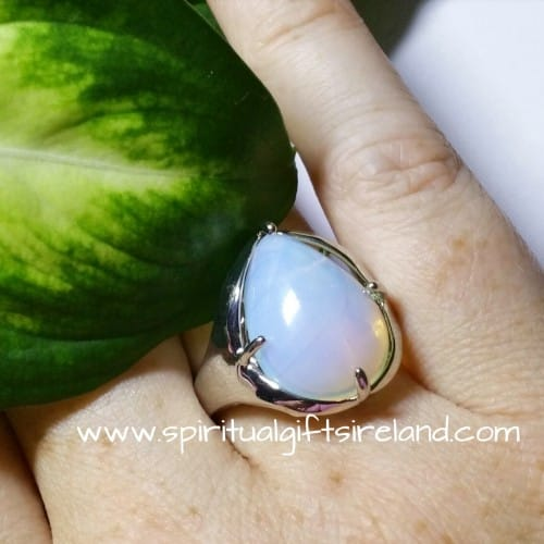 Opalite Adjustable Ring Teardrop