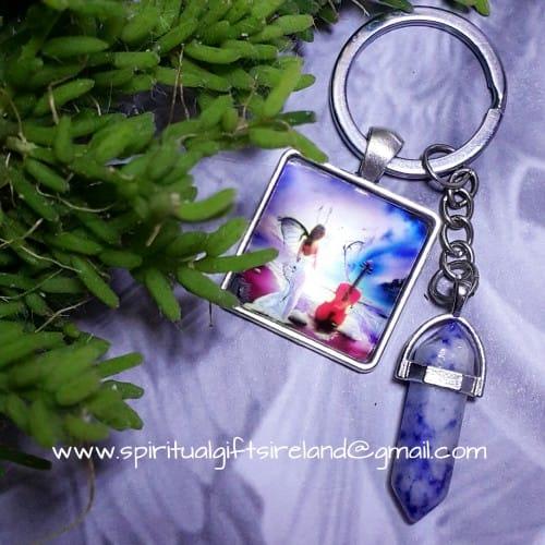 Angel Sodalite Crystal Keyring