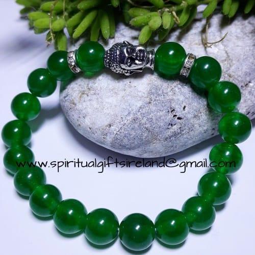 Jade Gemstone Buddha Bracelet