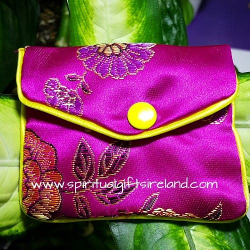 Satin Purse Pink Internal Zip