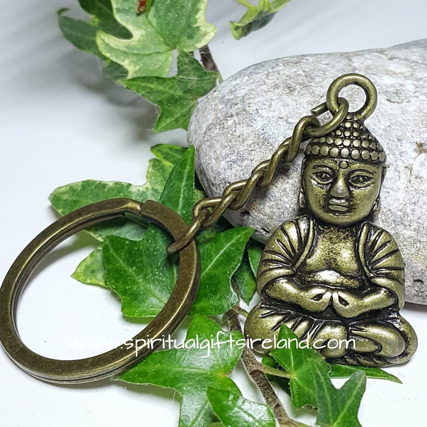 Buddha Keyring Keychain Bronze