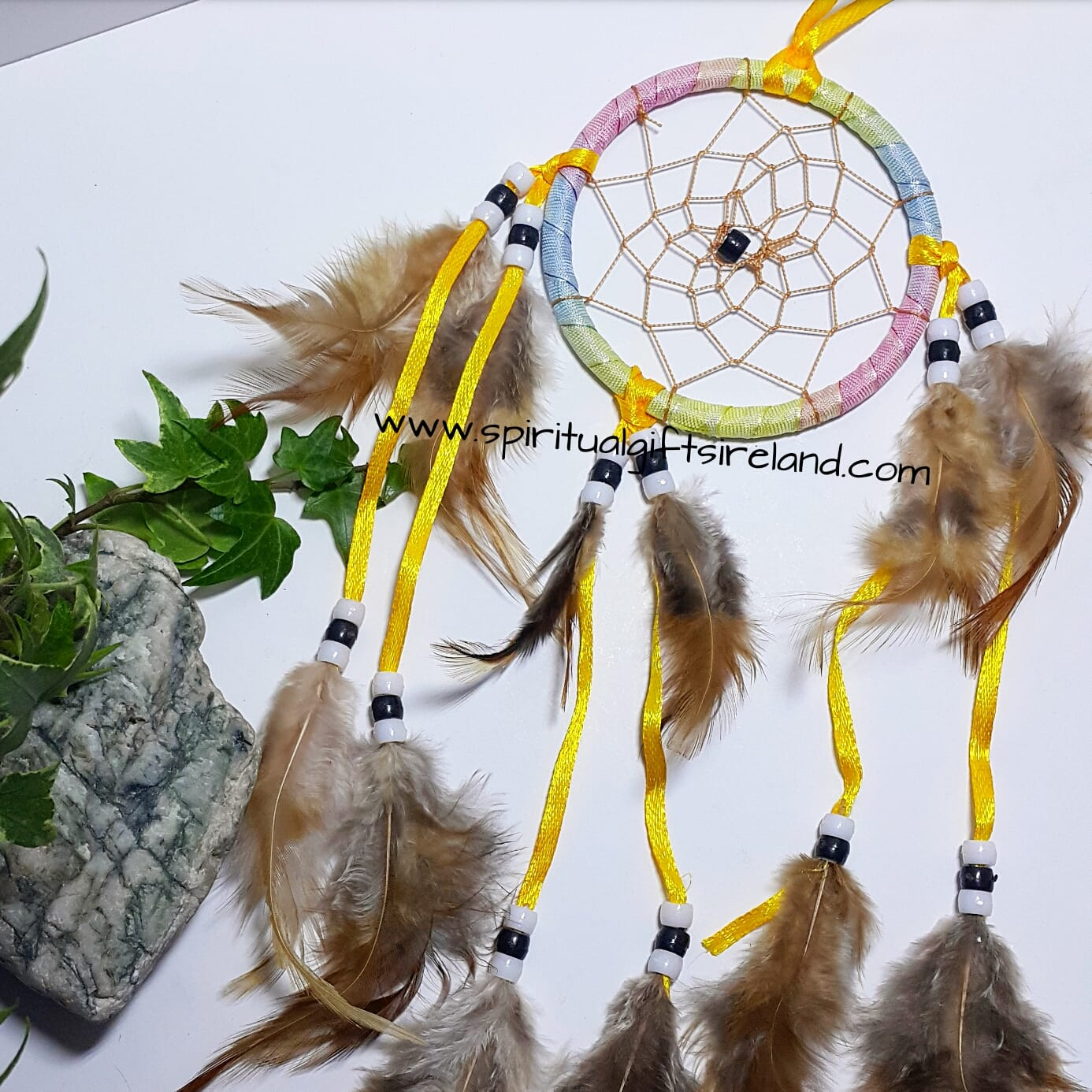 Dreamcatcher Pastel With Fluffy Feathers