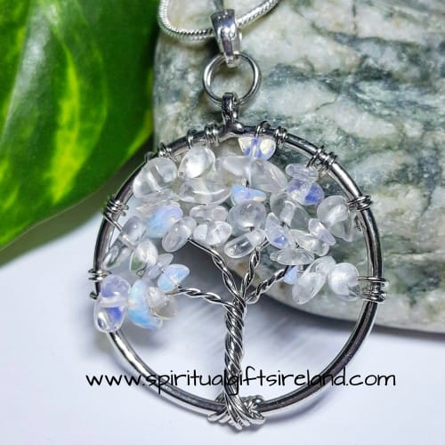 Opalite Necklace Miniature Tree of Life