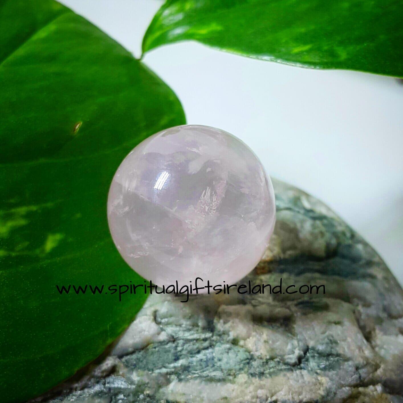 Rose Quartz Ball Pocket Stone