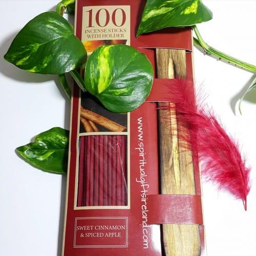 Sweet Cinnamon Incense Spiced Apple 100 Sticks