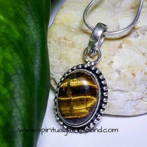 Tigers Eye Necklace Dainty Size